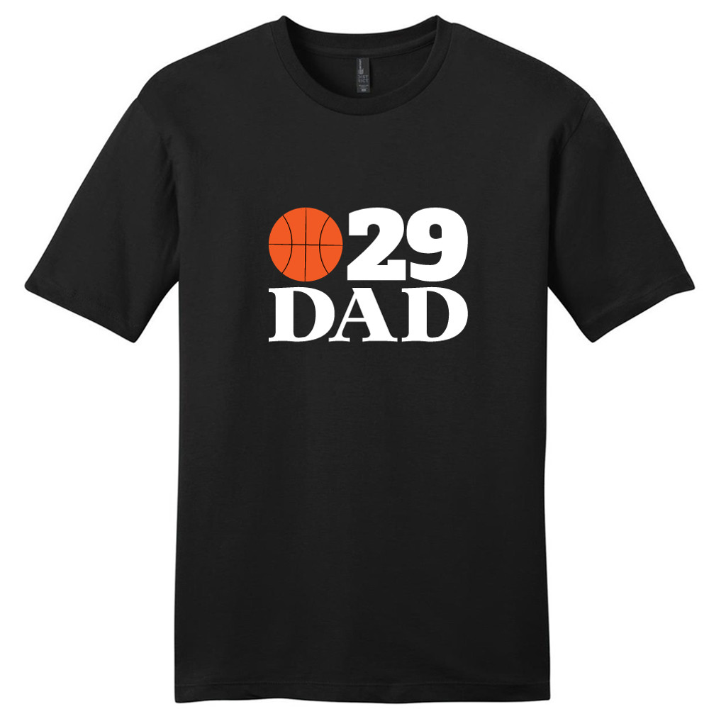 Black Custom Basketball Dad T-Shirt