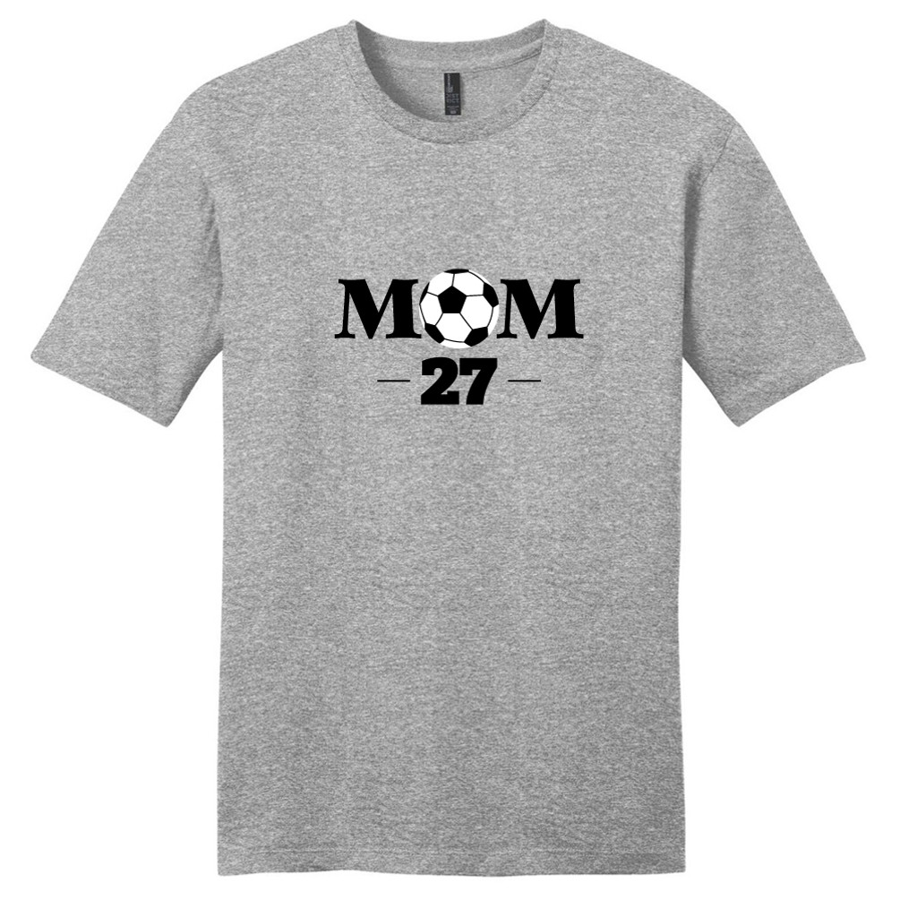 Light Heathered Gray Custom Soccer Mom T-Shirt