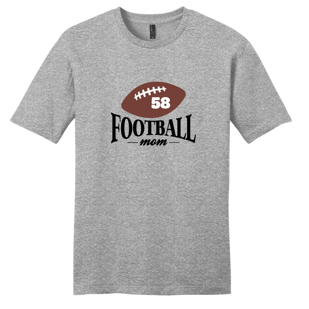 Light Heathered Gray Custom Football Mom T-Shirt