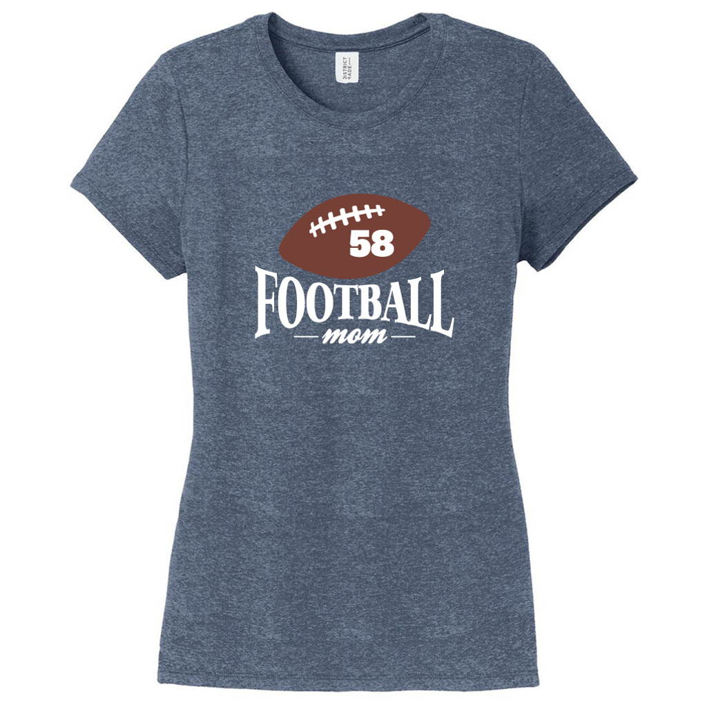 Navy Frost Custom Football Mom Women's Fitted T-Shirt
