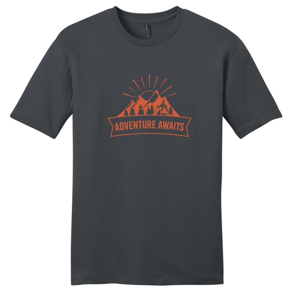 Charcoal Adventure Awaits T-Shirt