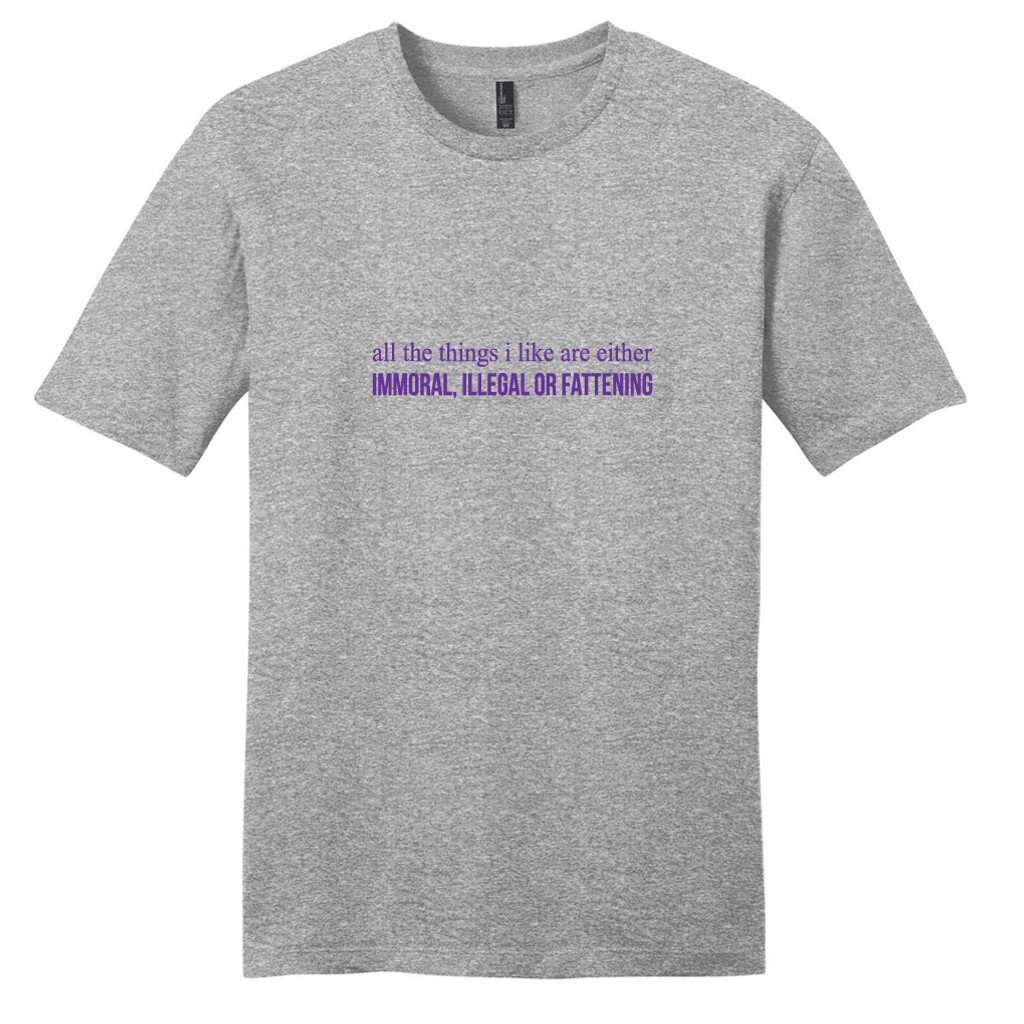 Light Heathered Gray All The Things I Like T-Shirt