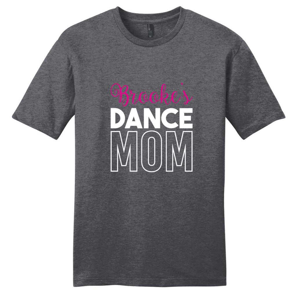 Heathered Charcoal Custom Name Dance Mom T-Shirt