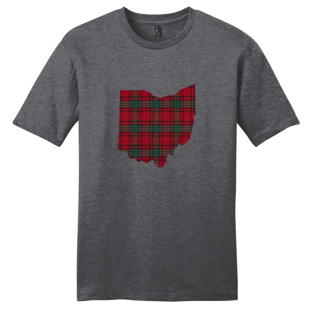 Heathered Charcoal Custom Plaid State T-Shirt