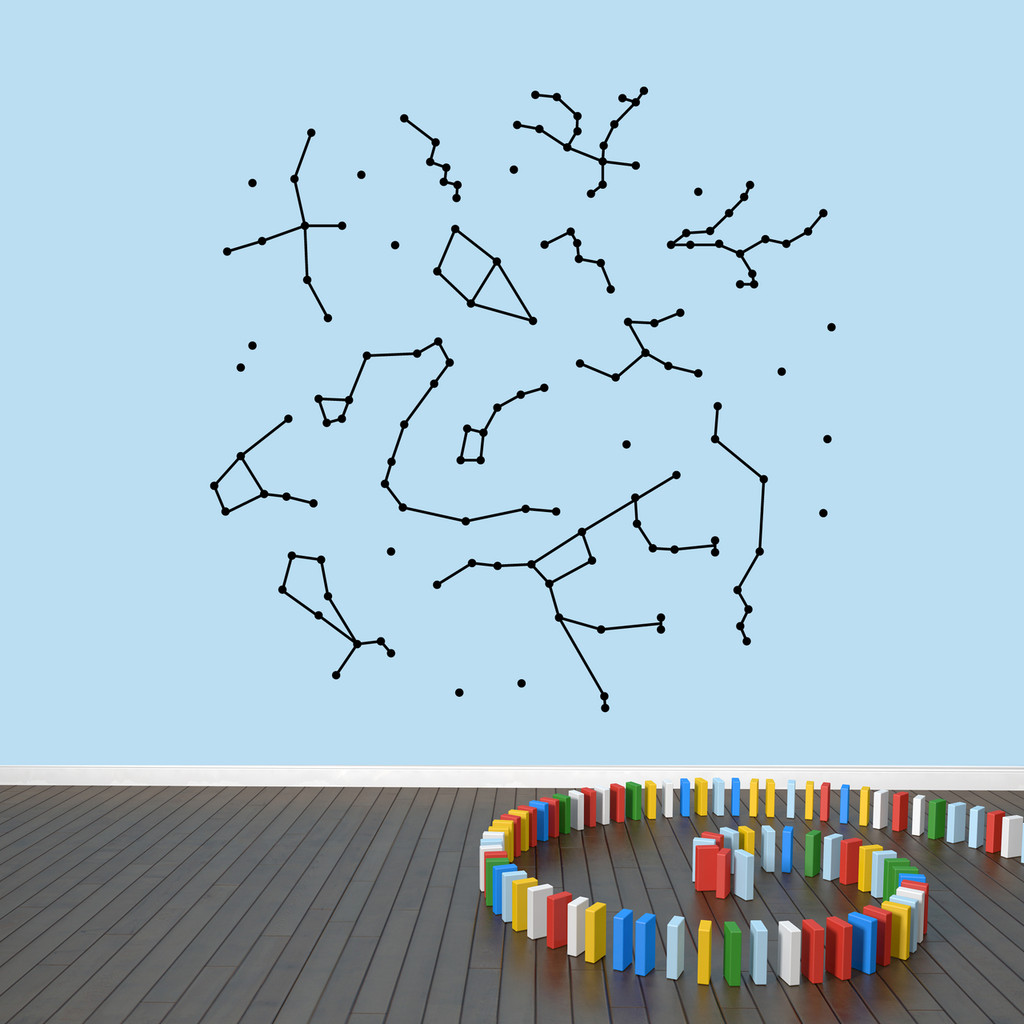 "Constellations Wall Decals 60"" wide x 60"" tall Sample Image"