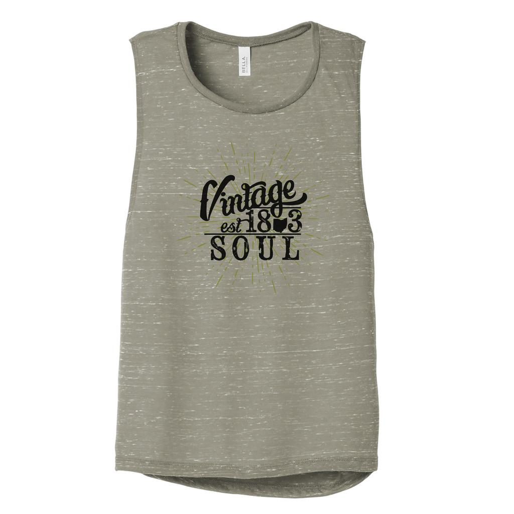 Vintage Ohio Soul Women's Flowy Scoop Muscle Tank Front