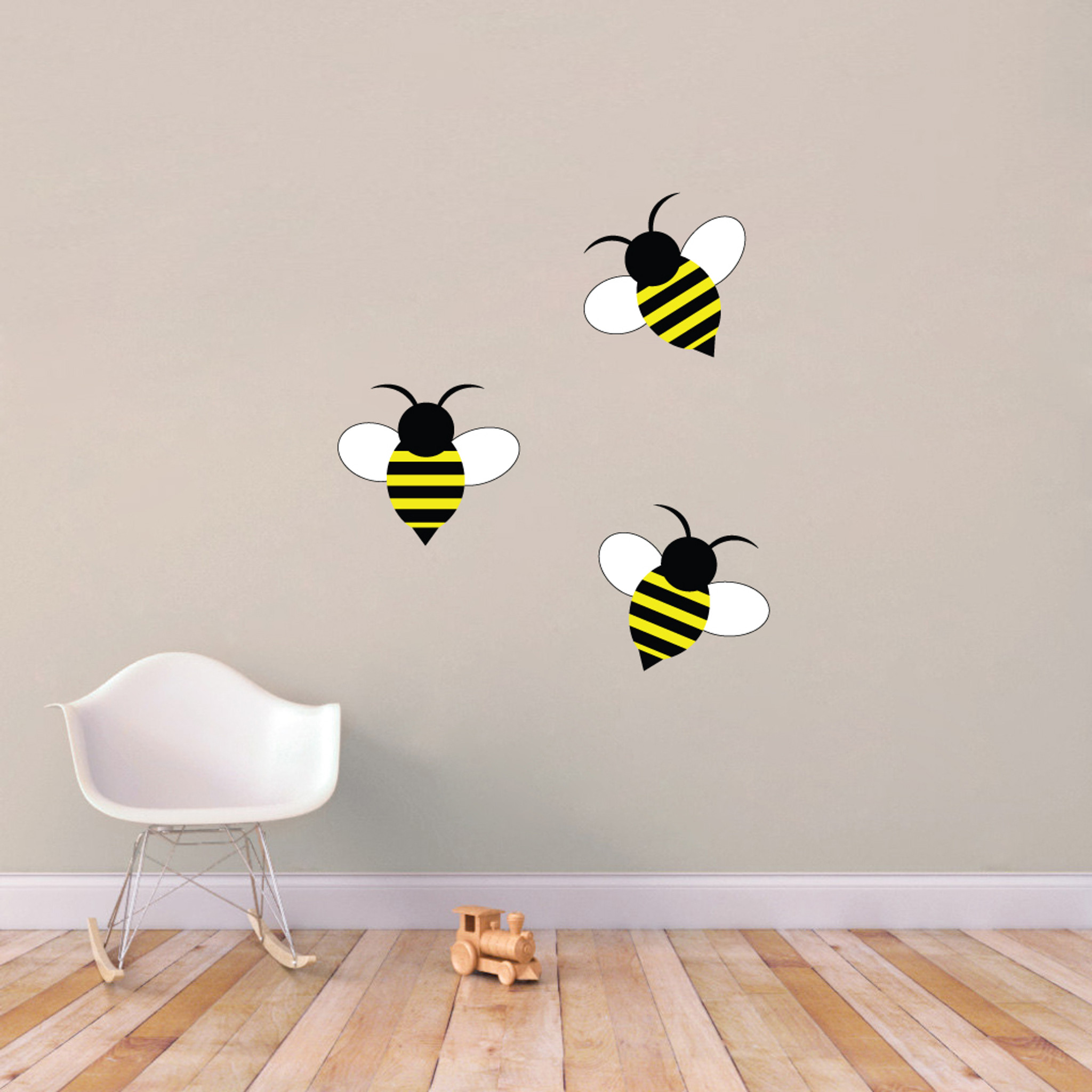 Bumble bees printed wall decals wall art wall murals for Bumble bee mural
