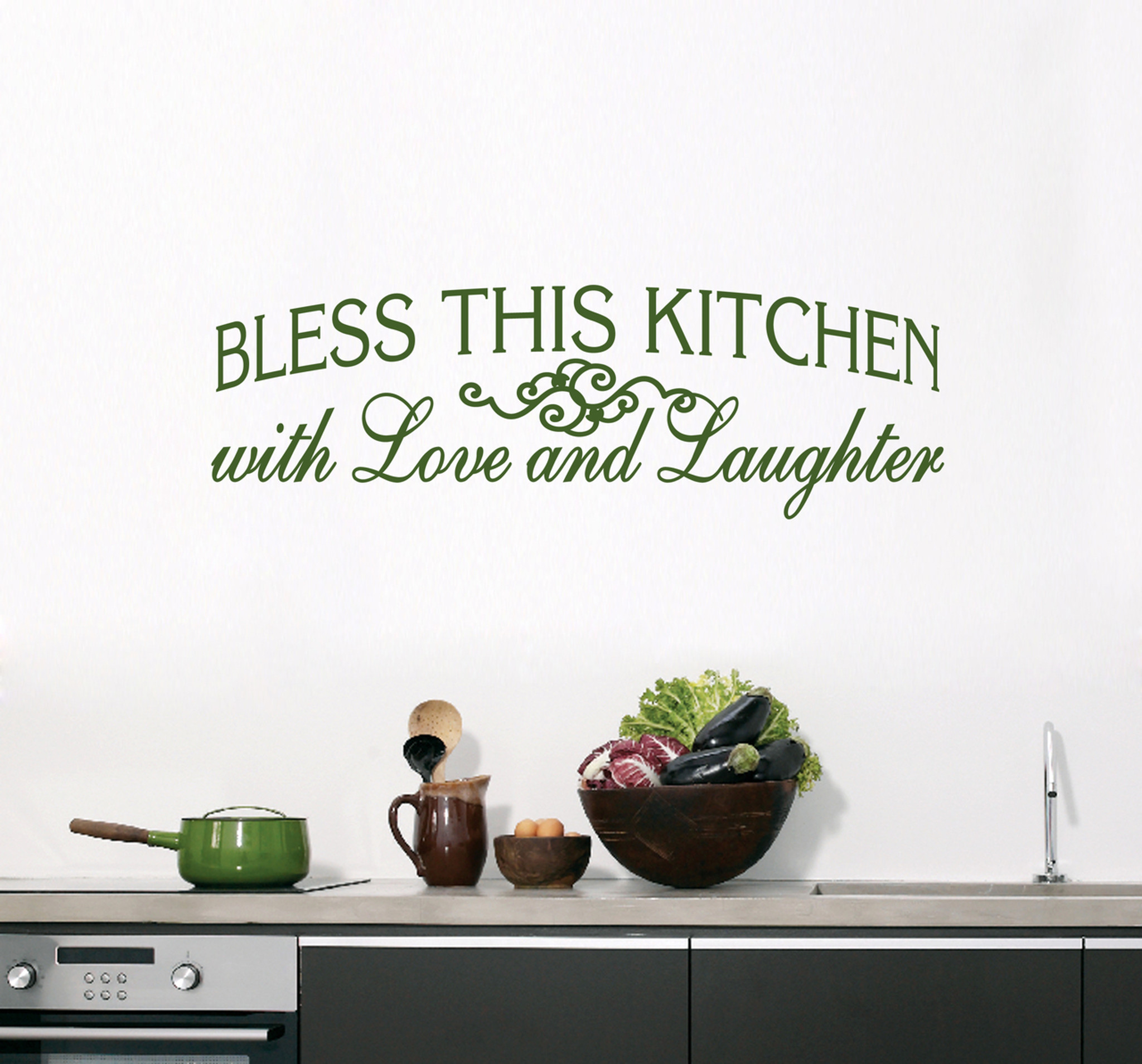 Bless This Kitchen Wall Decals |Wall Art | Wall Murals