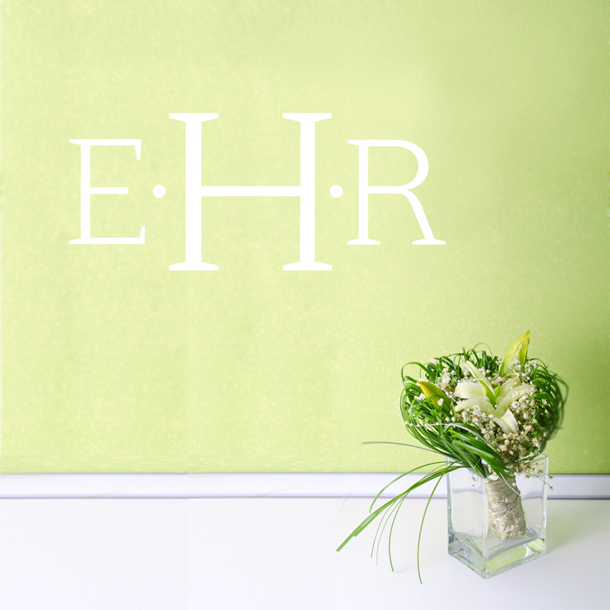 Simple Monogram Wall Decals Home Décor Wall Decals