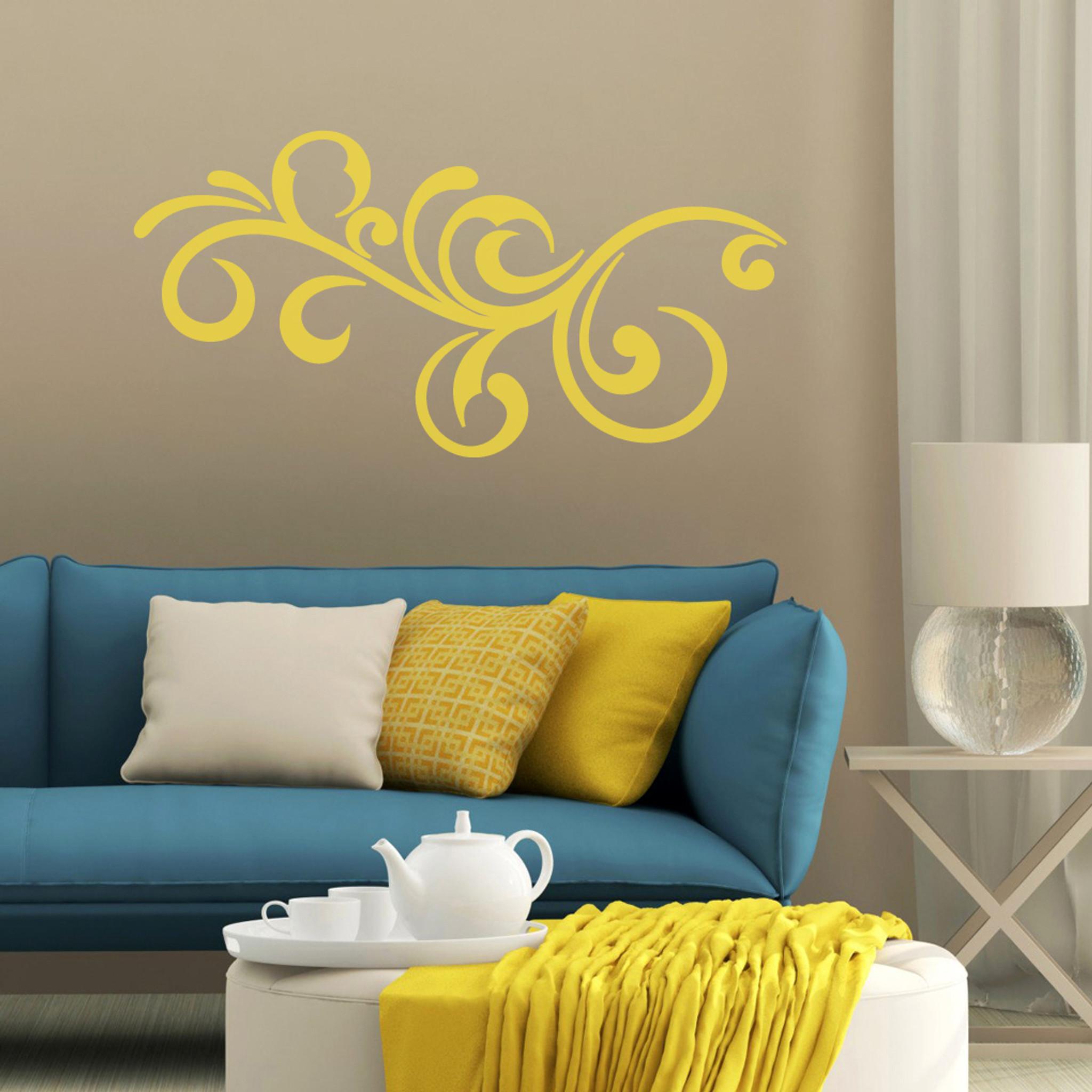 Decorative Scroll Flourish Wall Decals Wall Decor Stickers
