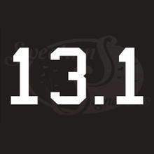 13.1 Half Marathon Vehicle Decals Stickers