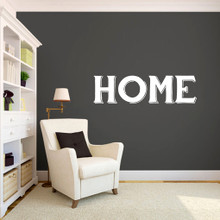 "Home Wall Decals 48"" wide x 13"" tall Sample Image"