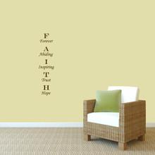 "Faith Wall Decal 9"" wide x 36"" tall Sample Image"