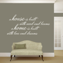 "A House Is Built Wall Decals and Stickers 60"" wide x 28"" tall Sample Image"