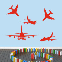 Airplanes Wall Decals Large Sample Image