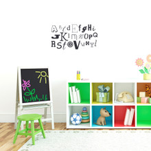 "Alphabet Wall Decals 26"" wide x 14"" tall Sample Image"