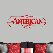 "American Wall Decals 48"" wide x 16"" tall Sample Image"