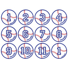 Baseball Monthly Baby Milestone Onesie Stickers