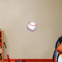 "Printed Baseball Wall Decals 12"" wide x 12"" tall Sample Image"