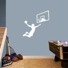 Basketball Slam Dunk Set Wall Decals Medium Sample Image