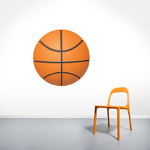 """Basketball Printed Wall Decals 30"""" wide x 30"""" tall Sample Image"""