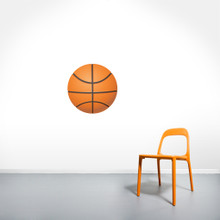 """Basketball Printed Wall Decals 18"""" wide x 18"""" tall Sample Image"""