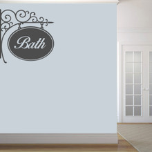 "Bath Sign Wall Decals 36"" wide x 36"" tall Sample Image"