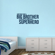 "Big Brother Wall Decals 38"" wide x 18"" tall Sample Image"