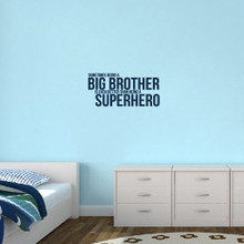 "Big Brother Wall Decals 28"" wide x 13"" tall Sample Image"