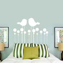 Kissing Birds Headboard Wall Decals and Stickers
