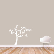 "Blowing Flower Tree Wall Decal Wall Stickers 36"" wide x 32"" tall Sample Image"