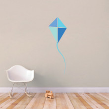 "Blue Kite Printed Wall Decals 19"" wide x 60"" tall Sample Image"