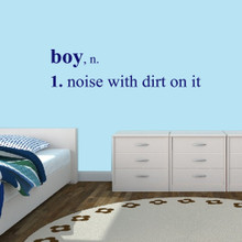"""Boy Wall Decals Wall Stickers 60"""" wide x 15"""" tall Sample Image"""