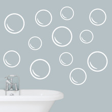 Bubbles Wall Decals Large Sample Image