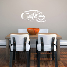 "Cafe Wall Decals 22"" wide x 11"" tall Sample Image"