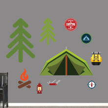 Camping Set Printed Wall Decals Large Sample Image