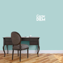"Carpe Diem Wall Decal 12"" wide x 9"" tall Sample Image"