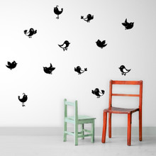 Cartoon Birds Set Wall Decals and Stickers
