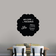 "Chalkboard Badge Wall Decals 23"" wide x 23"" tall Sample Image (writing not included)"