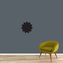 "Chalkboard Starburst Wall Decals 12"" wide x 12"" tall Sample Image"