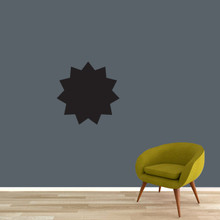 "Chalkboard Starburst Wall Decals 18"" wide x 18"" tall Sample Image"