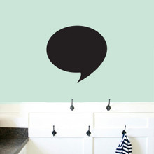 "Chalkboard Word Bubble Wall Decals 18"" wide x 17"" tall Sample Image"