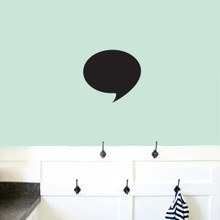 "Chalkboard Word Bubble Wall Decals 12"" wide x 11"" tall Sample Image"