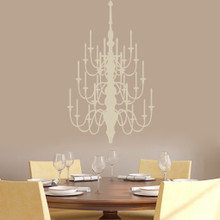 "Chandelier Wall Decal 22"" wide x 36"" tall Sample Image"
