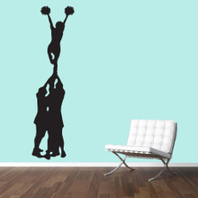 "Cheerleader Mount Wall Decals 20"" wide x 72"" tall Sample Image"