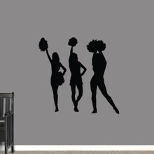 Cheerleaders Wall Decals Medium Sample Image