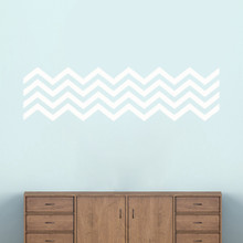 "Chevron Stripes Wall Decals 50"" wide x 14"" tall Sample Image"