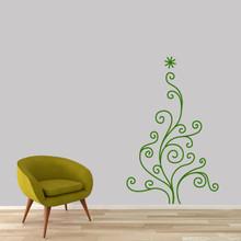 "Christmas Tree Wall Decal 30"" wide x 48"" tall Sample Image"