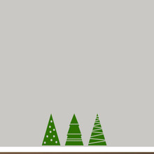 Christmas Tree Set Wall Decals Small Sample Image