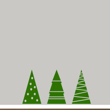 Christmas Tree Set Wall Decals Medium Sample Image